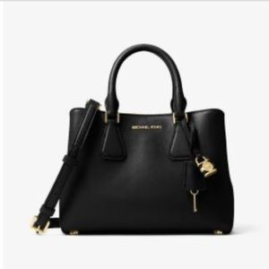 NWT Michael kors small leather black satchel